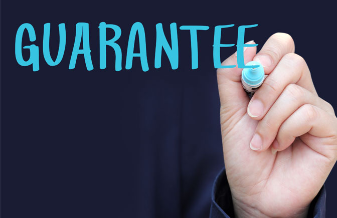 Rules to be follow to a commercial guarantee