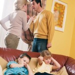 Who should care child if the parents live separately?
