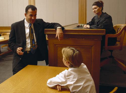 child in court