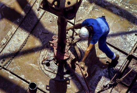 workers on oilfield