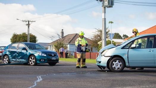 involved in a car crash